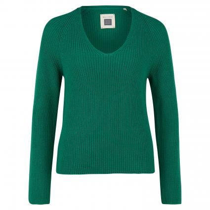 Pullover mit V-Ausschnitt grün (449 spring forest) | S
