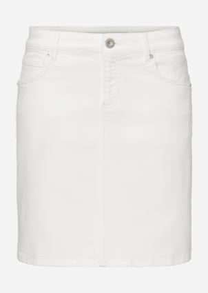 Kurzer Jeansrock weiss (100 white) | 25