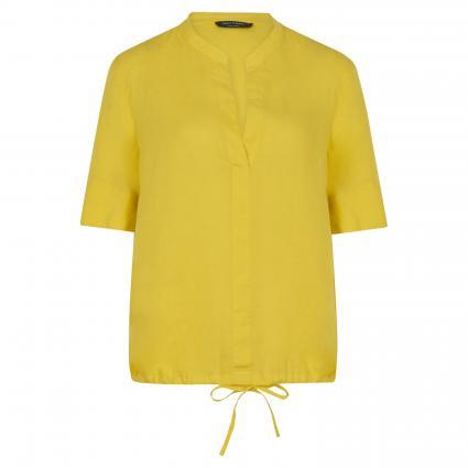 Kurzärmelige Bluse mit V-Ausschnitt grün (452 sunny lime) | 36