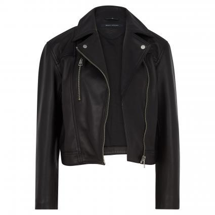 Lederjacke mit Reißverschluss schwarz (990 black) | 44