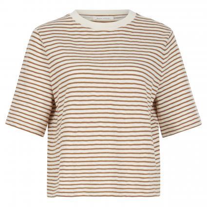 T-Shirt mit Streifenmuster gold (Z50 multi/ocker) | XS