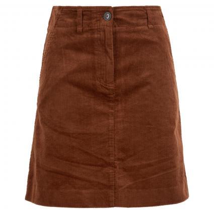 Kurzer Rock aus Cord braun (773 chestnut brown) | 38