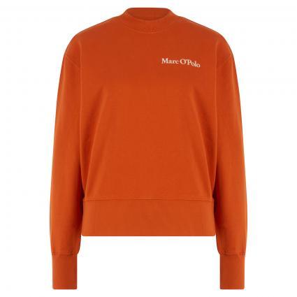 Oversize Sweatshirt mit Logo-Print orange (266 pumpkin orange)   M