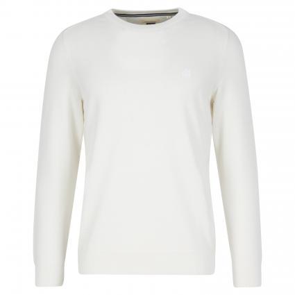 Pullover mit Rundhalsausschnitt ecru (102 lily white)   XXL