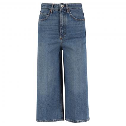 High Waist Jeans-Culotte blau (063 Mid Authentic Wa)   27