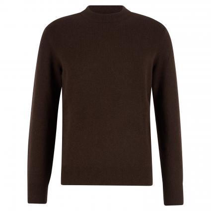 Pullover mit Rundhalsausschnitt und Rippenstrickbündchen braun (782 chocolate brown) | S