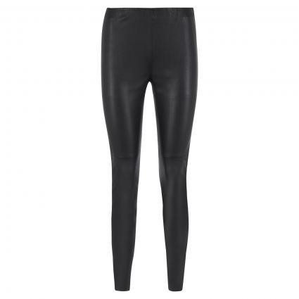 Slim-Fit Lederhose schwarz (990 black) | 40
