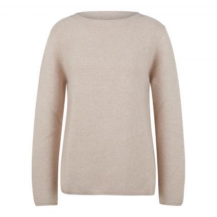 Strickpullover aus Baumwolle beige (145 sandy melange) | XL