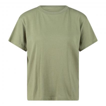 T-Shirt mit Rundhalsausschnitt grün (431 dried sage) | XS