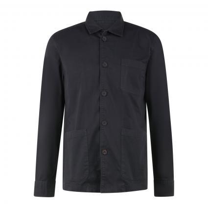 Hemd im Overshirt-Stil schwarz (991 phantom fear) | L