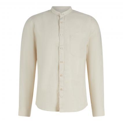 Shaped-Fit Leinenhemd mit Stehkragen ecru (115 linen white) | M