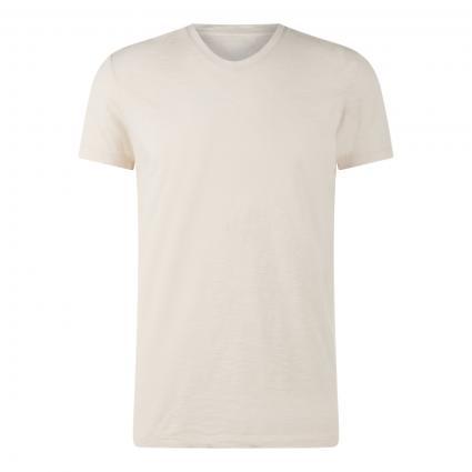 T-Shirt mit Strukturmuster ecru (X61 multi/linen whit) | S