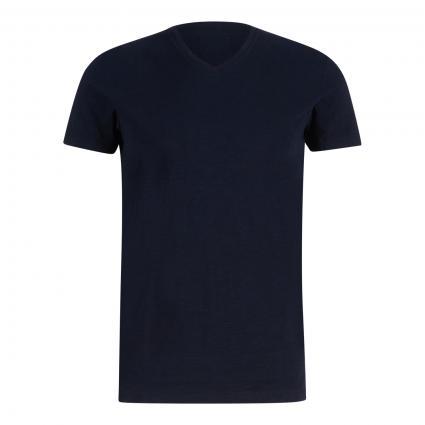 T-Shirt mit Strukturmuster schwarz (X69 multi/black) | L