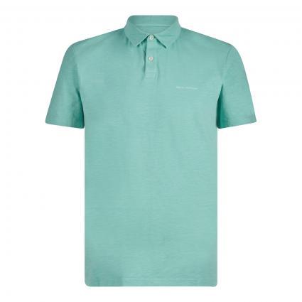 Poloshirt mit Strukturmuster grün (420 oasis) | XXL