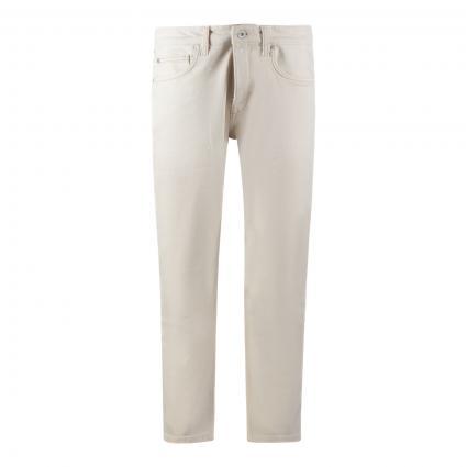 Tapered-Fit Jeans in Cropped Länge ecru (056 Ecru Organic Was) | 31 | 32