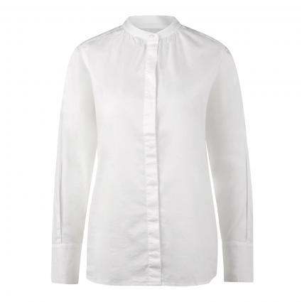 Bluse mit schmalem Stehkragen weiss (100 white) | 36