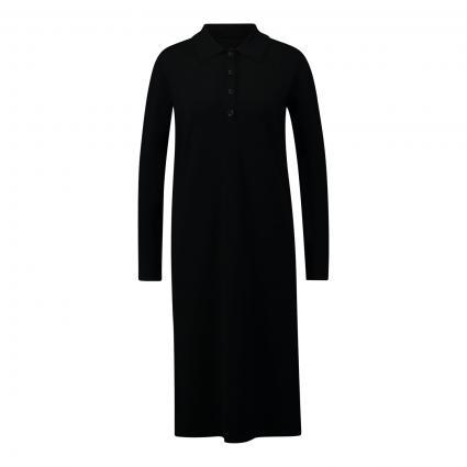 Kleid mit Knopfleiste schwarz (990 black) | 36