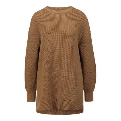 Grobstrick-Pullover mit seitlichen Schlitzen  camel (764 desert camel) | XL