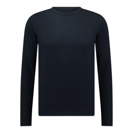 Pullover aus Baumwoll-Seiden Mischung marine (896 total eclipse) | XL