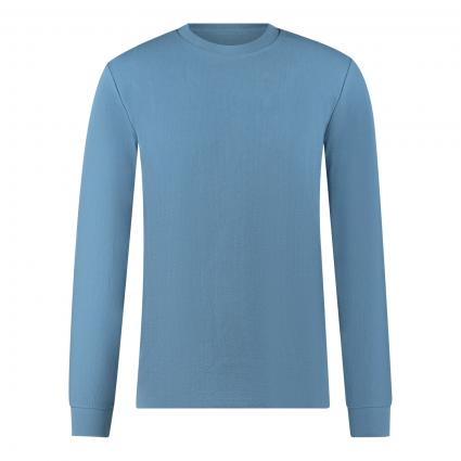 Reg.-Fit Langarmshirt mit feiner Rippenstruktur blau (849 kashmir blue) | S
