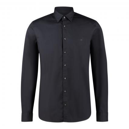 Shaped-Fit Hemd aus elastischer Baumwolle schwarz (991 phantom fear) | L
