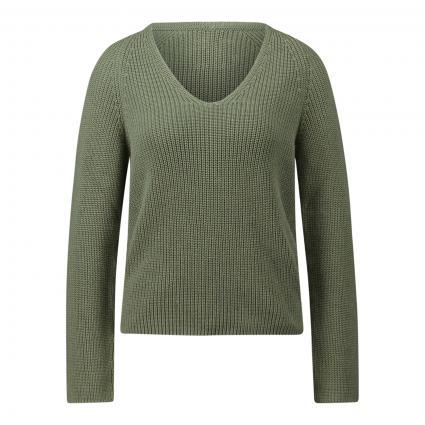 Pullover mit V-Ausschnitt grün (431 dried sage) | XL
