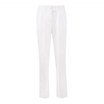 Bundfaltenhose aus Leinen ecru (117 white linen)   40