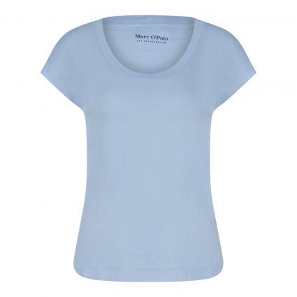 T-Shirt mit Rundhalsausschnitt blau (824 sunny sky) | S
