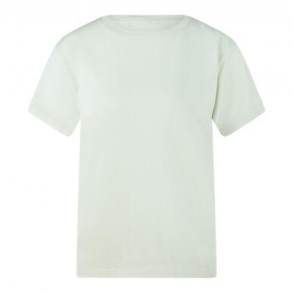 T-Shirt mit Rundhalsausschnitt grün (412 pale mint) | L