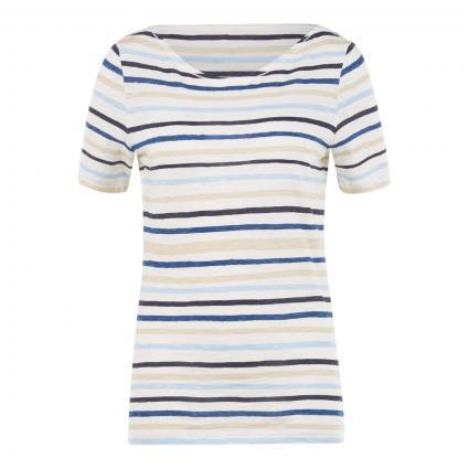 T-Shirt mit Streifenmuster türkis (E15 multi/rainbow bl) | S
