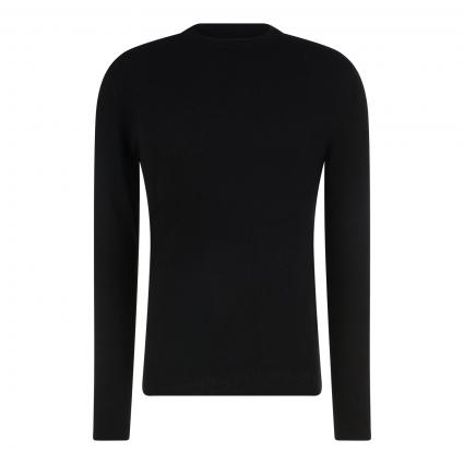 Pullover aus Wolle schwarz (990 black) | L