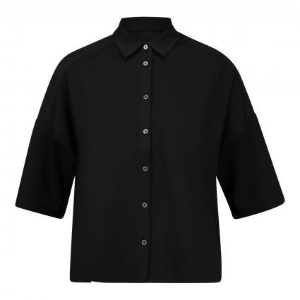 T-Shirt mit Knöpfen und Kragen  anthrazit (981 dusty black) | L