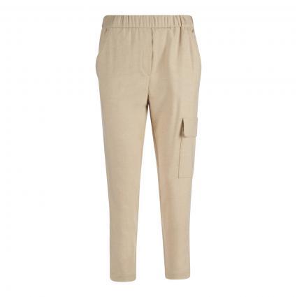 Jogginghose mit elastischem Bund beige (159 chalky sand)   34
