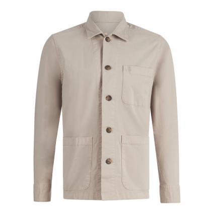Overshirt mit Einschubtaschen grau (913 dapple gray) | XXL