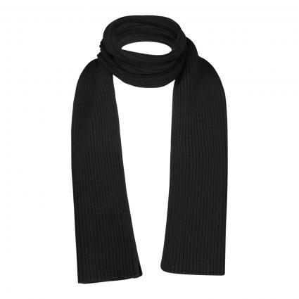 Schal mit Ripp-Struktur schwarz (990 black) | 0