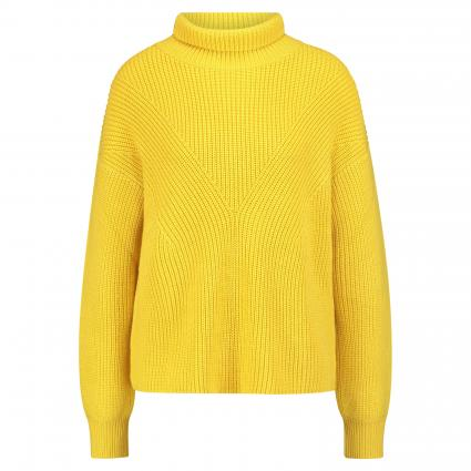 Strickpullover in A-Linie gelb (730 Bright Yellow) | 36