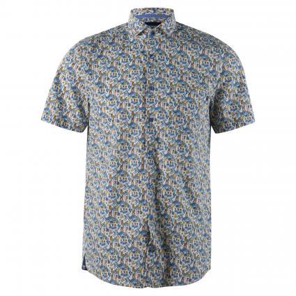 Regular-Fit Hemd mit all-over Print blau (450 Lt/Pastel Blue)   S