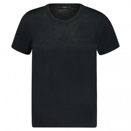 T-Shirt aus reiner Seide marine (415 Navy) | 36