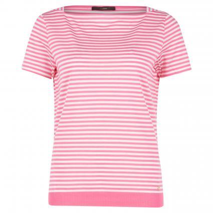 T-Shirt in Streifen-Optik rose (671 Bright Pink) | 42