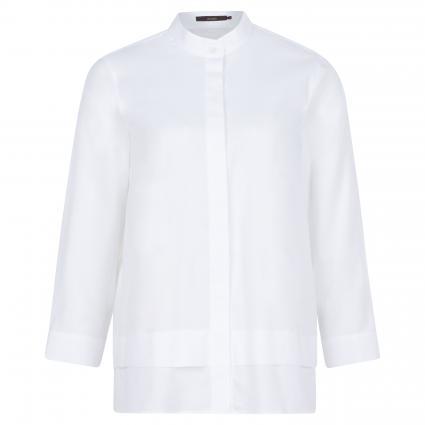 Klassische Bluse mit Stehkragen weiss (100 White) | 36