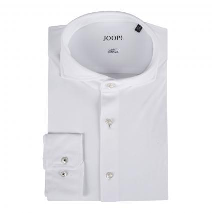 Slim-Fit Hemd 'Pajos' aus Jersey weiss (100 White) | 42