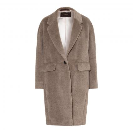 Mantel aus Alpaka braun (244 Open Brown) | 38