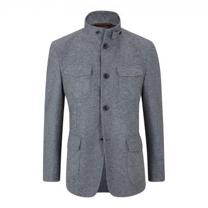 Shaped-Fit Woll-Sakko 'Arco' grau (030 Medium Grey) | 48