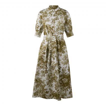 Kleid mit All-Over Muster  grün (303 Dark Green) | 44