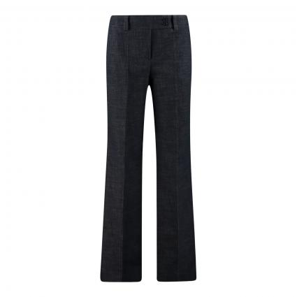 Slim-Fit Hose mit weitem Bein aus Denimware marine (415 Navy)   42