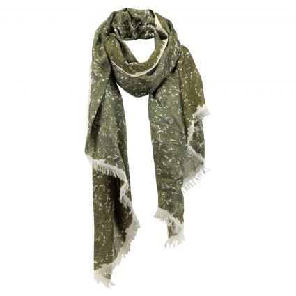 Schal mit All-Over Muster  grün (303 Dark Green)   0