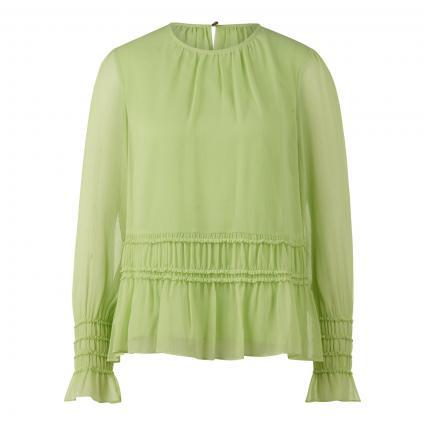 Chiffonbluse 'Barra' mit Rüschen-Details grün (335 Lt/Pastel Green)   38