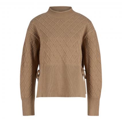 Pullover 'Kiera' mit Strukturmuster beige (265 Medium Beige) | 40