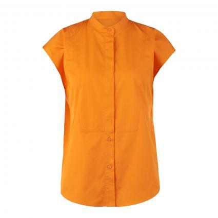 Blusenshirt mit versteckter Knopfleiste orange (825 Bright Orange)   38