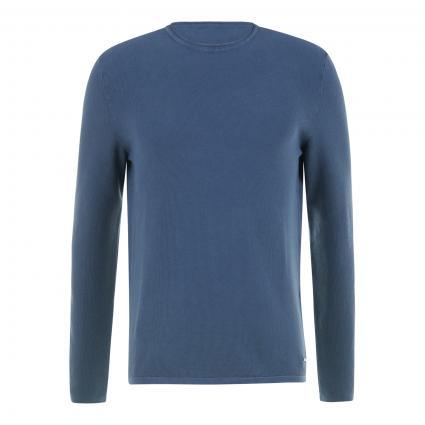 Pullover 'Fero' mit Pikee-Struktur blau (420 Medium Blue) | S